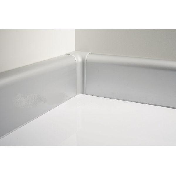 Плинтус алюминиевый, напольный, 80x22x3000