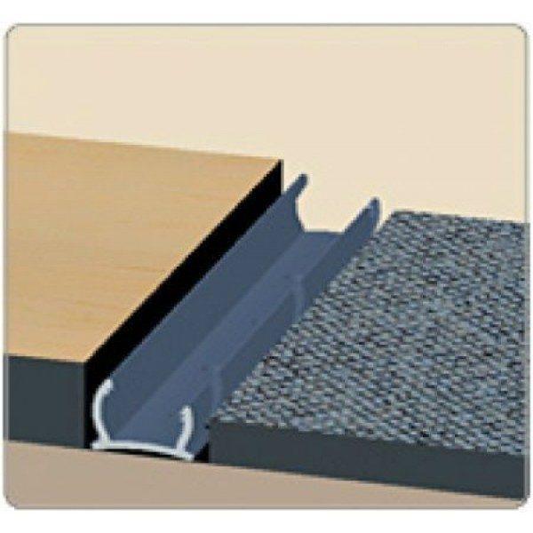 Порог гибкий универсальный Идеал 301 Венге без крепежа 40х15 мм (рулон 3 м)