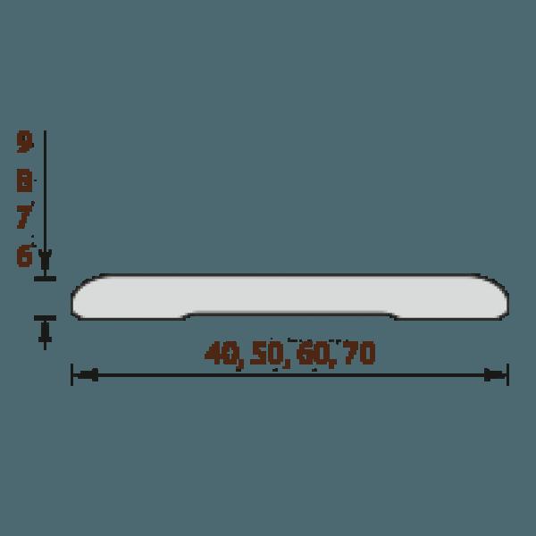 Наличник пластиковый пвх для дверей 212 Дуб светлый Идеал IDEAL вспененный 2200мм. 9х70х2200 (Н70)