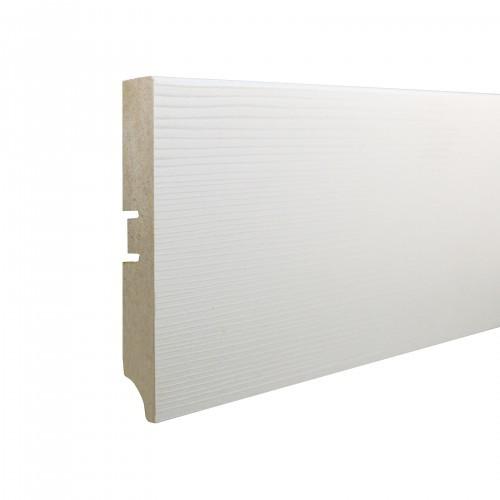 Плинтус МДФ Smartprofile Paint 3D wood 100А (100мм) Фактурный белый под покраску