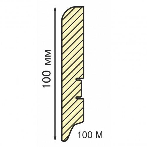 Плинтус МДФ Smartprofile Paint 100М (100 мм) Белый под покраску