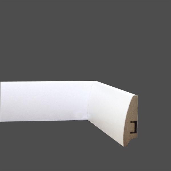 Плинтус МДФ 58×16х2050 мм. белый L-decor LP101-58 / шт.