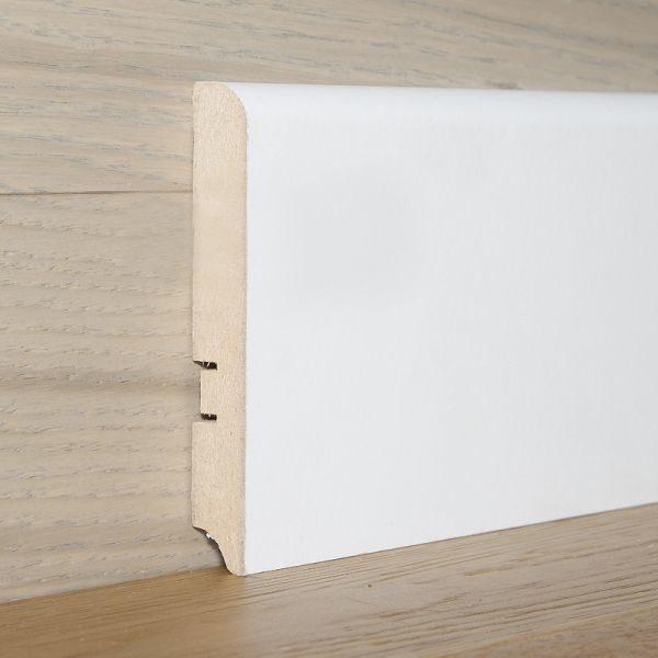 Плинтус МДФ 100×16х2400 мм белый L-decor LP-102-100 / шт.