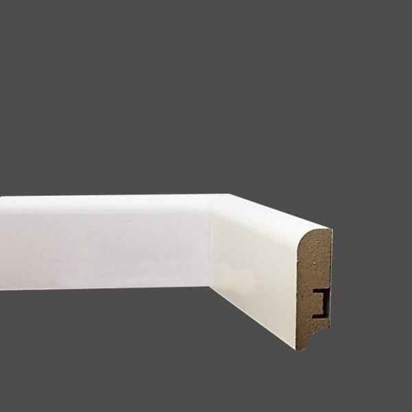 Плинтус МДФ 58×16х2400 мм. мм белый L-decor LP-102-58 / шт.