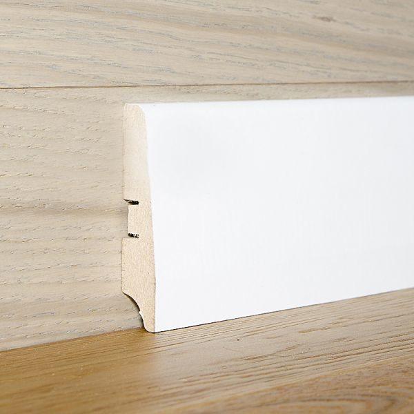 Плинтус МДФ 82×16х2050 мм. белый L-decor LP-103-82 / шт.