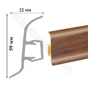 Плинтус пластиковый напольный Cezar Premium 59х22x2500 мм. олива амазонская 104 / шт.