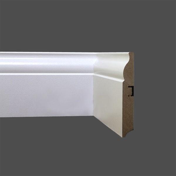Плинтус МДФ 100×16х2400 мм белый L-decor LP-105-100 / шт.