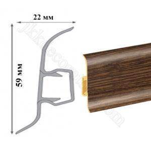 Плинтус пластиковый напольный Cezar Premium 59х22x2500 мм. Зебрано 112 / шт.