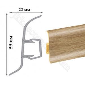 Плинтус пластиковый напольный Cezar Premium 59х22x2500 мм. Бамбук тайский 116 / шт.