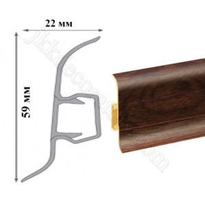 Плинтус пластиковый напольный Cezar Premium 59х22x2500 мм. Дуб викинг 169 / шт.