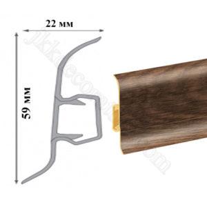 Плинтус пластиковый напольный Cezar Premium 59х22x2500 мм. Дуб конго 176 / шт.
