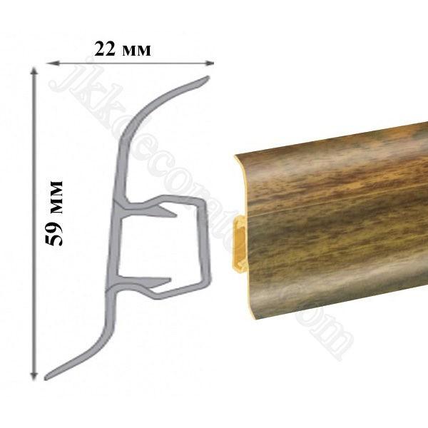 Плинтус пластиковый напольный Cezar Premium 59х22x2500 мм. 179 / шт.