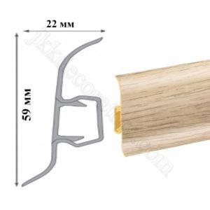 Плинтус пластиковый напольный Cezar Premium 59х22x2500 мм. Дуб тимерлах 199 / шт.