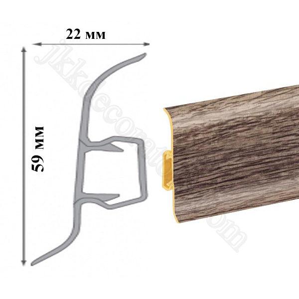Плинтус пластиковый напольный Cezar Premium 59х22x2500 мм. 212 / шт.