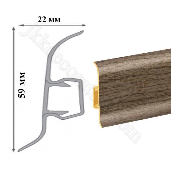 Плинтус пластиковый напольный Cezar Premium 59х22x2500 мм. 228 / шт.