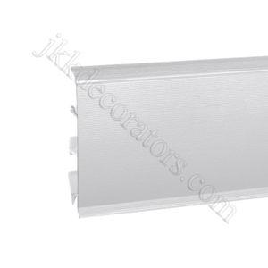 Плинтус пластиковый Korner EVO-70 с кабель-каналом, Industrial Collection, 70x20.7x2500 мм. Алюминий 25-70-0-002 / шт.