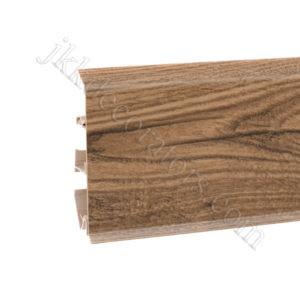 Плинтус пластиковый Korner EVO-70 с кабель-каналом, Natural Collection, 70x20.7x2500 мм. Дуб Leonardo 25-70-0-007 / шт.