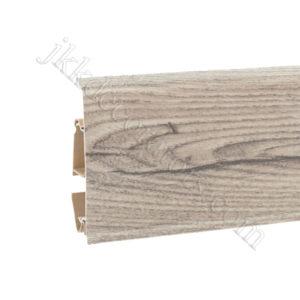 Плинтус пластиковый Korner EVO-70 с кабель-каналом, Modern Collection, 70x20.7x2500 мм. Жасминовый дуб 25-70-0-013 / шт.