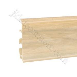 Плинтус пластиковый Korner EVO-70 с кабель-каналом, Modern Collection, 70x20.7x2500 мм. Белый ясень 25-70-0-017 / шт.
