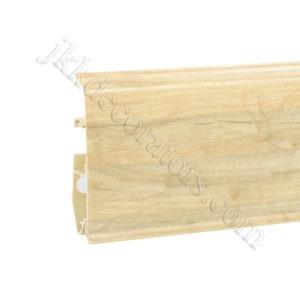 Плинтус пластиковый Korner EVO-70 с кабель-каналом, Natural Collection, 70x20.7x2500 мм. Пастельный дуб 25-70-0-018 / шт.