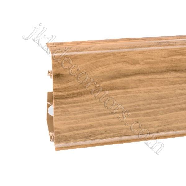 Плинтус пластиковый Korner EVO-70 с кабель-каналом, Natural Collection, 70x20.7x2500 мм. Дуб Exclusive 25-70-0-022 / шт.