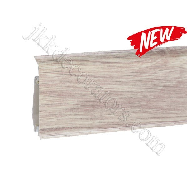 Плинтус пластиковый Korner EVO-70 с кабель-каналом, Modern Collection, 70x20.7x2500 мм. Дуб Алебастр 25-71-0-024E / шт.