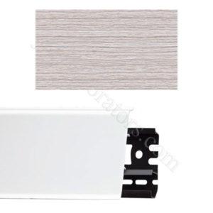 Плинтус напольный пластиковый Идеал Система 80x22x2200, с кабель-каналом, 253 Ясень серый / шт.