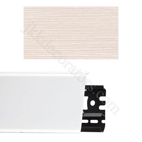 Плинтус напольный пластиковый Идеал Система 80x22x2200, с кабель-каналом, 266 Клен светлый / шт.
