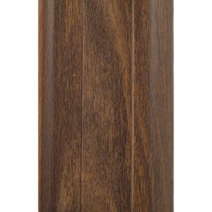 Напольный пластиковый плинтус пвх Идеал Комфорт к55 Орех Миланский 292 (ideal Comfort 55х22х2500 мм)