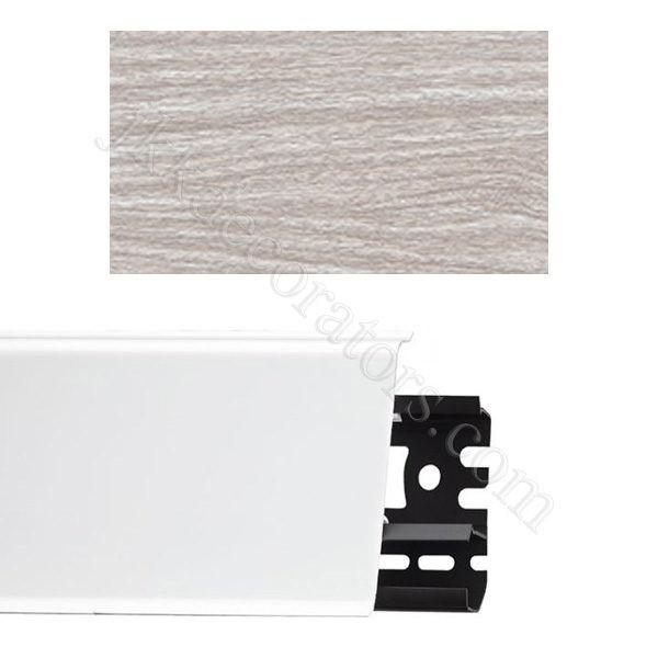 Плинтус напольный пластиковый Идеал Система 80x22x2200, с кабель-каналом, 294 Орех антик / шт.