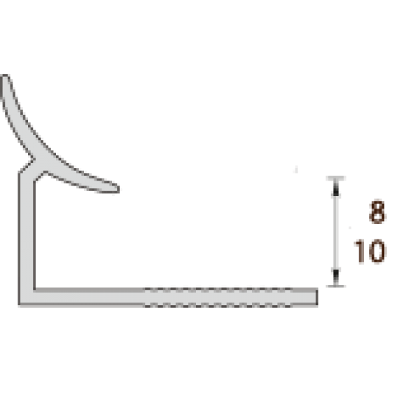 Пластиковая раскладка для плитки внутренняя и наружная Идеал Ideal 017 Терракотовый ПВХ
