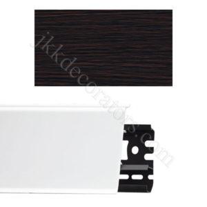Плинтус напольный пластиковый Идеал Система 80x22x2200, с кабель-каналом, 303 Венге темный / шт.