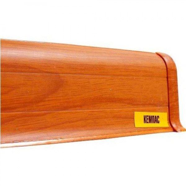 Напольный пластиковый плинтус пвх Идеал Комфорт к55 Кемпас 331 (ideal Comfort 55х22х2500 мм)