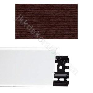 Плинтус напольный пластиковый Идеал Система 80x22x2200, с кабель-каналом, 351 Каштан / шт.