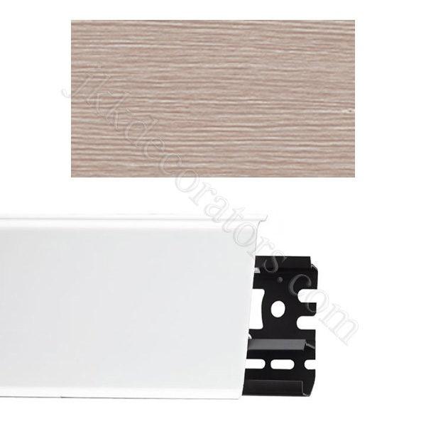 Плинтус напольный пластиковый Идеал Система 80x22x2200, с кабель-каналом, 361 Акация / шт.