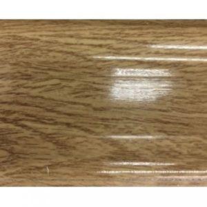 Плинтус пластиковый Ideal, Идеал-Комфорт напольный, 2500 х 55 мм. Глянцевый Дуб рустик 211 / шт.
