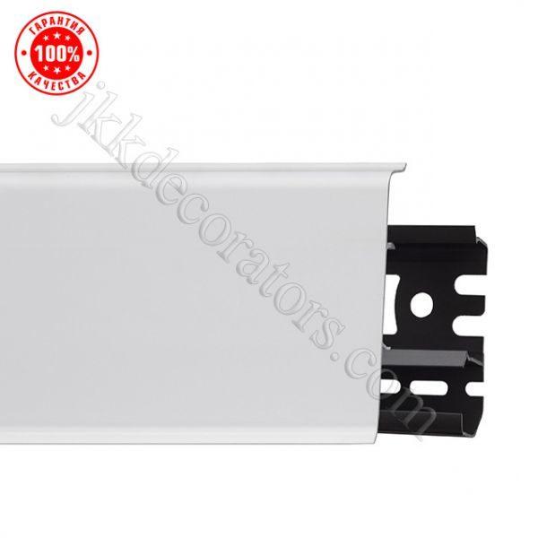 Плинтус напольный пластиковый Arbiton Indo (Арбитон Индо) с кабель-каналом, 70x26x2500 мм. Белый Матовый 40 / шт.