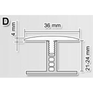 База D 21-24мм к профилю Polmar 3м / шт.
