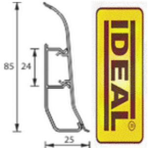 Плинтус идеал Делюкс Орех 291 (ideal Deluxe) 85х22х2500 мм