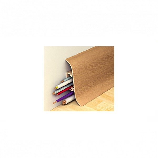 Напольный пластиковый плинтус пвх Идеал Альфа А45 213 Дуб северный (ideal Alfa 45х21х2500 мм)