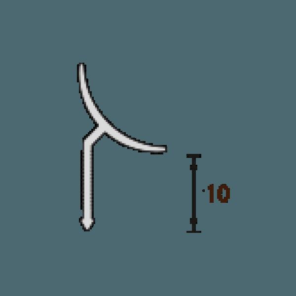 Пластиковая раскладка для плитки внутренняя и наружная Идеал Ideal 108 Мрамор зеленый ПВХ