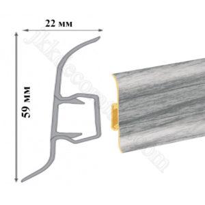 Плинтус пластиковый напольный Cezar Premium 59х22x2500 мм. дуб светло серый 78 / шт.