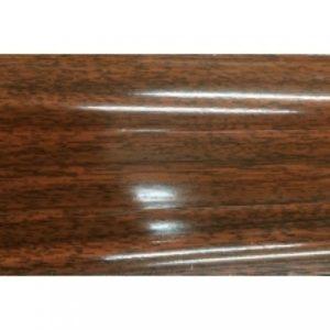 Плинтус пластиковый Ideal, Идеал-Комфорт напольный, 2500 х 55 мм. Глянцевый Махагон 346 / шт.
