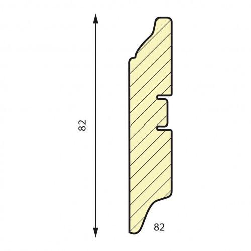 Плинтус МДФ Smartprofile 3D wood (82 мм) Белый велюр