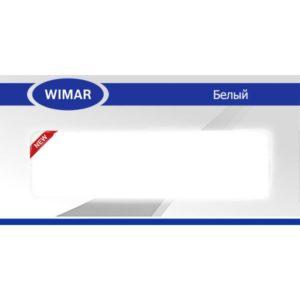Плинтус пластиковый Вимар (Wimar), напольный, с кабель каналом, 68x22x2500 мм. Белый, 68мм. / шт.