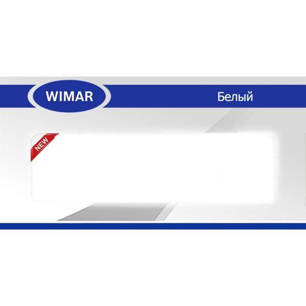 Плинтус пластиковый напольный Wimar (Вимар), ПВХ, с кабель-каналом 2500 х 58 мм. Белый / шт.