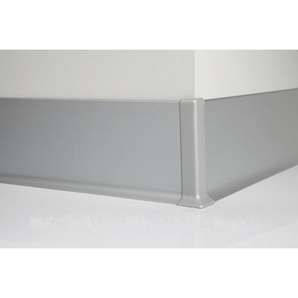 Плинтус алюминиевый, напольный, 80x10x3000