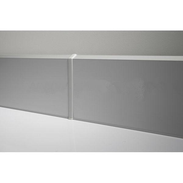 Плинтус алюминиевый напольный 70x10x3000