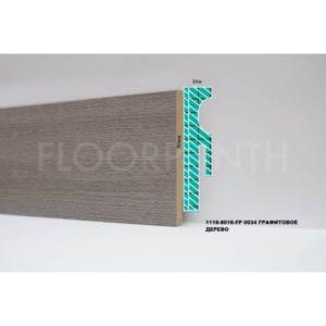 Плинтус МДФ Floorplinth 80x16x2070 FP 0034 Графитовое дерево / шт.