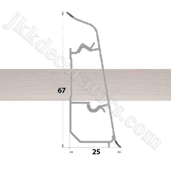 Плинтус пластиковый напольный Декор-Пласт 2500х67х25мм. Смола Мастикового LL027 / шт.